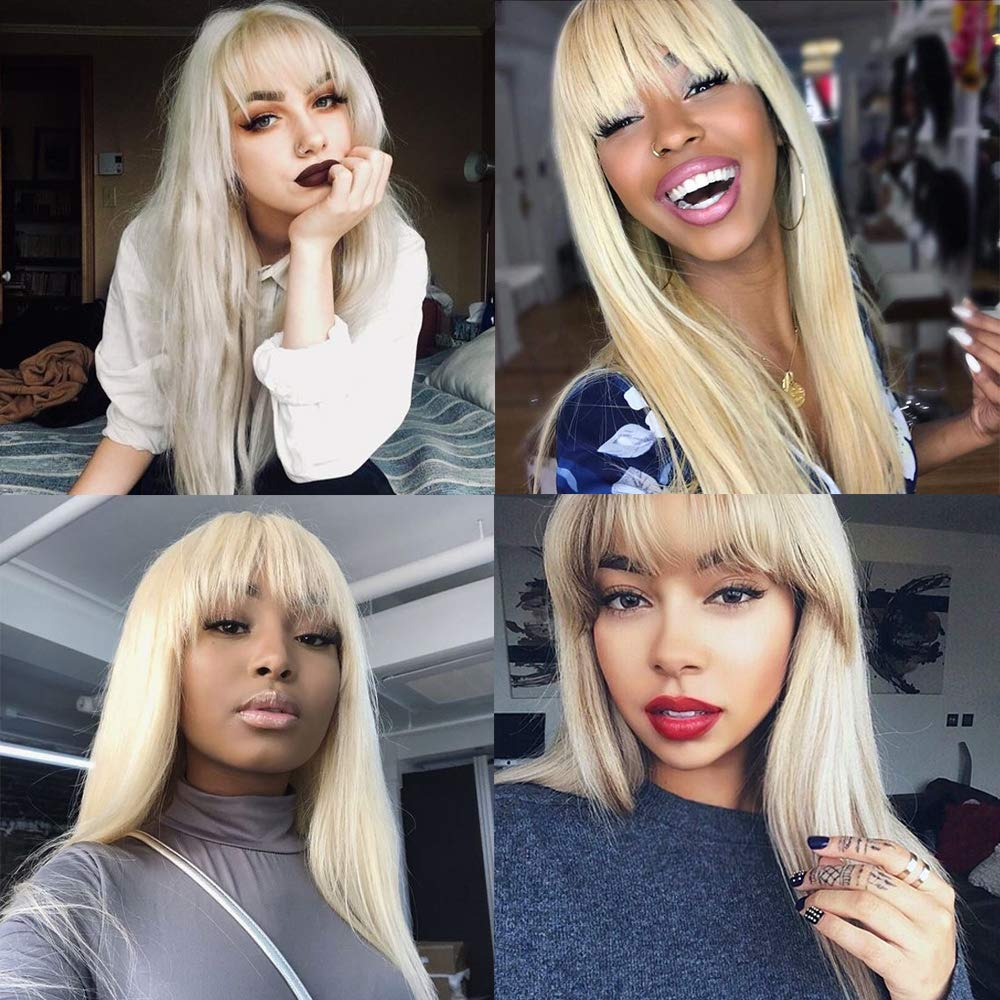 Blonde Long Synthetic Hair Wigs