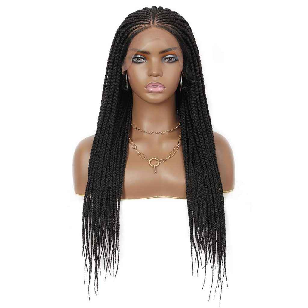 Wide Lace Area Tiny Braided Top Box Braided Wigs