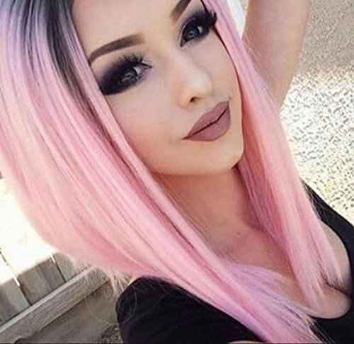 AISI HAIR Ombre Pink Wigs