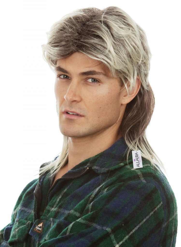Mullet Wigs for Men 80s Costumes